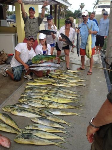 lots of fish caught aboard top gun