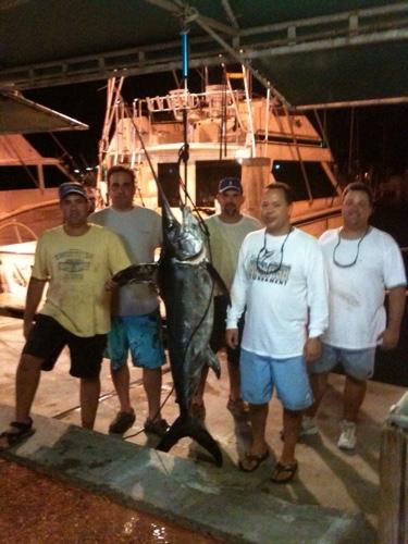 night time swordfish caught off Miami,FL